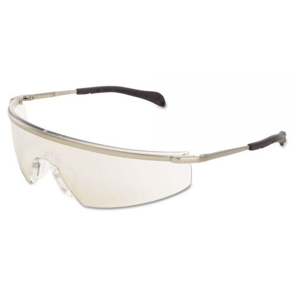 Crews Triwear Metal Protective Eyewear Platinum, Frame/ Blue Diamond Lens