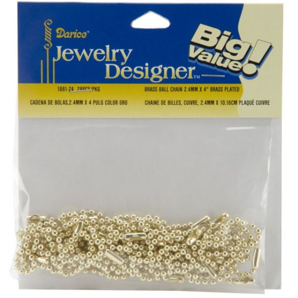 "Ball Link Chains 4"" 28/Pkg"