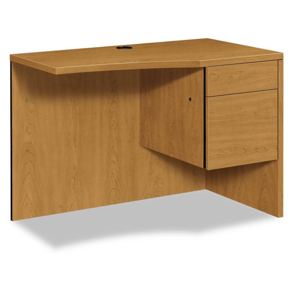"HON 10500 Series Curved Right Return | 1 Box / 1 File Drawer | 42""W"