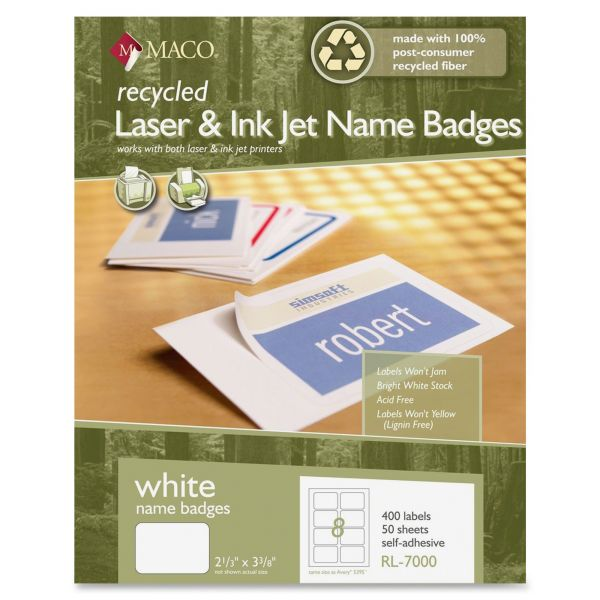 Maco Recycled Name Badge Labels