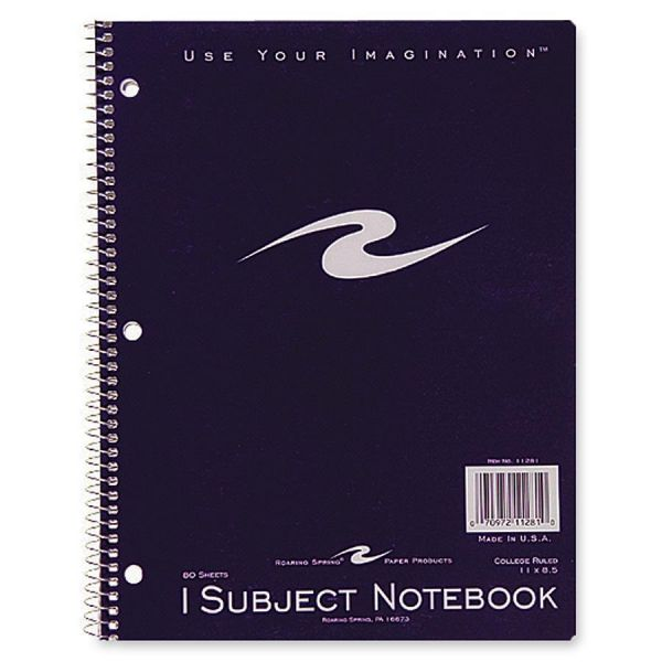 Roaring Spring Full Sz Sngle Sub. Wirebnd Notebook