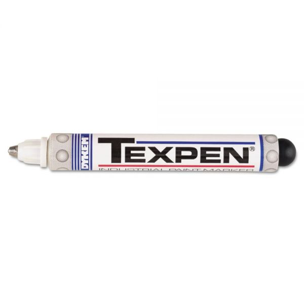 DYKEM TEXPEN Industrial Paint Marker Pen, Medium Tip, White