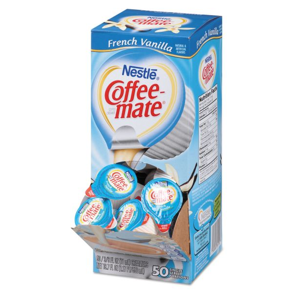 Coffee-mate Liquid Coffee Creamer, French Vanilla Flavor 0.375 oz., 200 Creamers/Carton