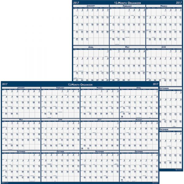 House of Doolittle Reversible Laminated Yearly Wall Calendar