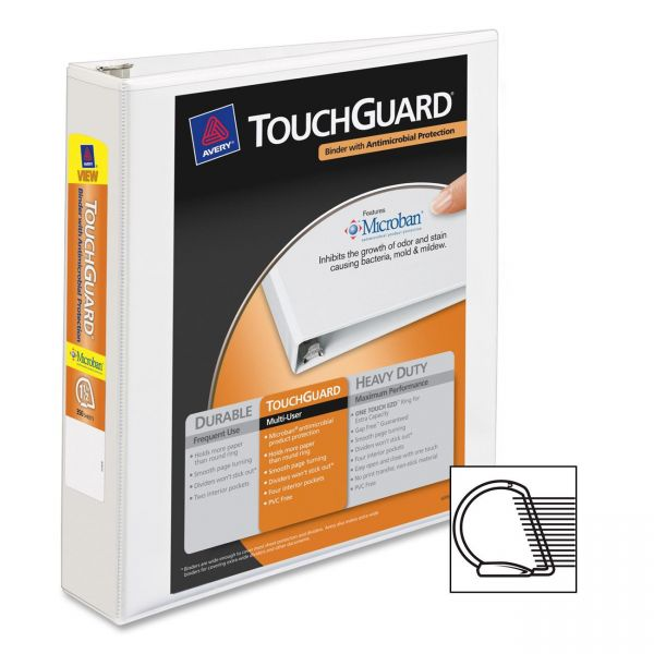 "Avery TouchGuard 1 1/2"" 3-Ring View Binder"