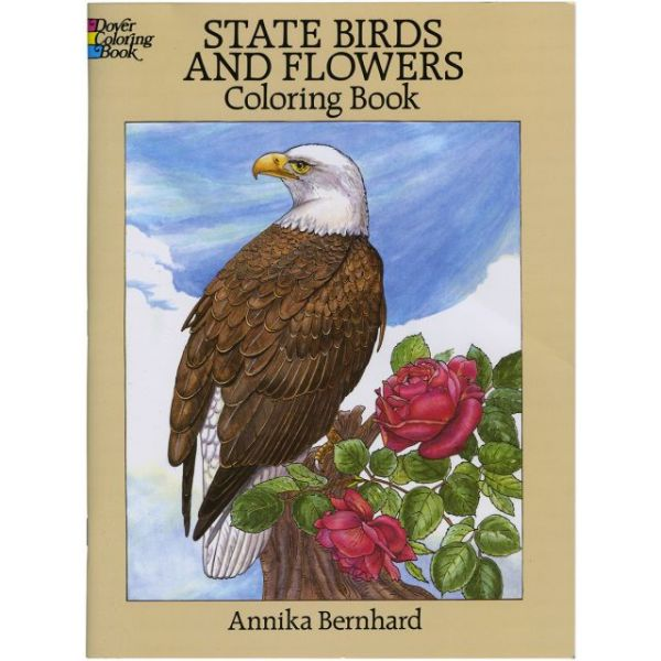 Dover Publications: State Birds & Flowers Coloring Book