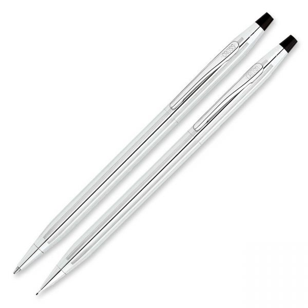 Cross Classic Century Lustrous Chrome Pen & Pencil Set