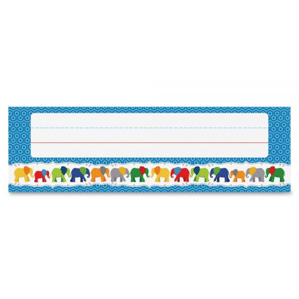 Carson Dellosa Parade of Elephants Desk Name Plates