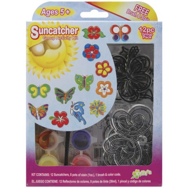 Kelly's Kidz Sparkle Butterfly & Flowers Suncatcher Activity Kit