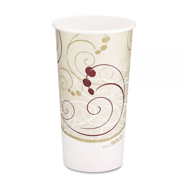 Dart Hot Cups, Symphony Design, 20oz, Beige, 600/Carton