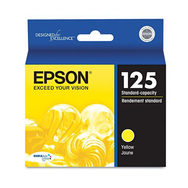 Epson 125 Yellow Ink Cartridge (T125420)