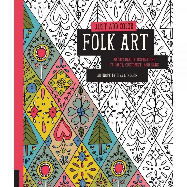 Rockport Books: Just Add Color - Folk Art Coloring Book