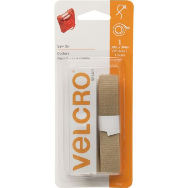"VELCRO(R) Brand Sew-On Tape 3/4""X30"""