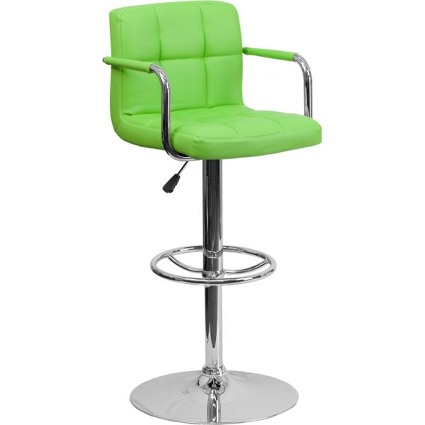 Flash Furniture Contemporary Quilted Barstool with Arms