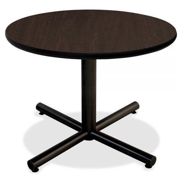 Lorell Hospitality Espresso Laminate Round Tabletop