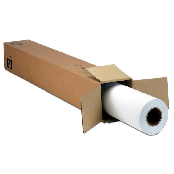 "HP Designjet Inkjet Large Format Paper, 24"" x 100 ft, White"