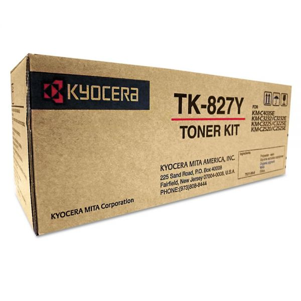 Kyocera TK827Y Yellow Toner Cartridge