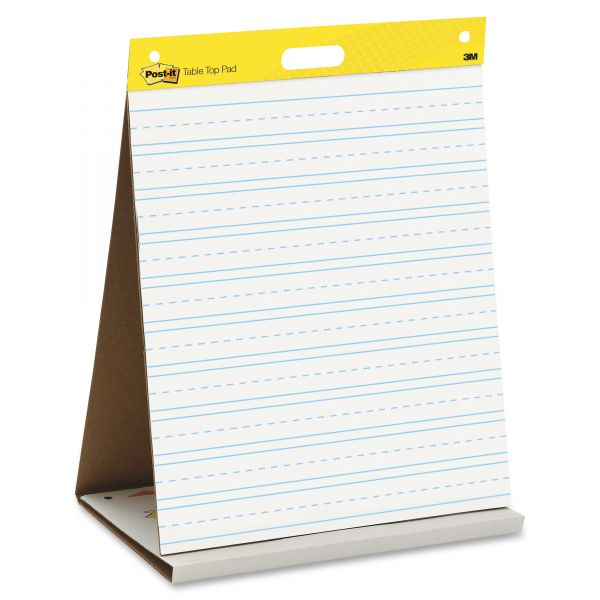 Post-it Self-Stick Tabletop Ruled Easel Pad