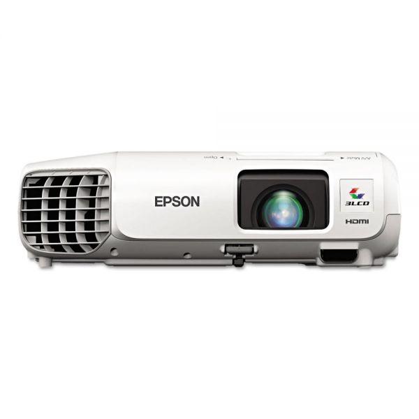 Epson PowerLite 97H XGA 3LCD Projector, 2700 Lumens, 1024 x 768 Pixels, 1.2x Zoom