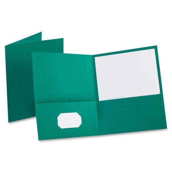 Oxford Teal Two Pocket Folders