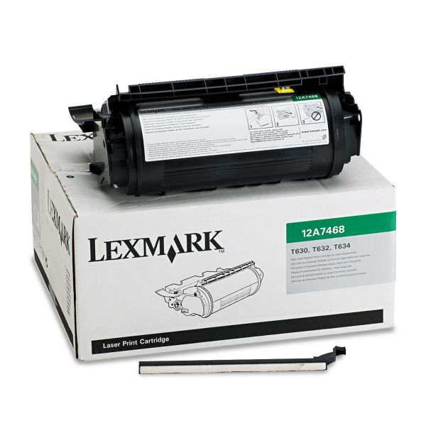 Lexmark 12A7468 Black High Yield Return Program Toner Cartridge