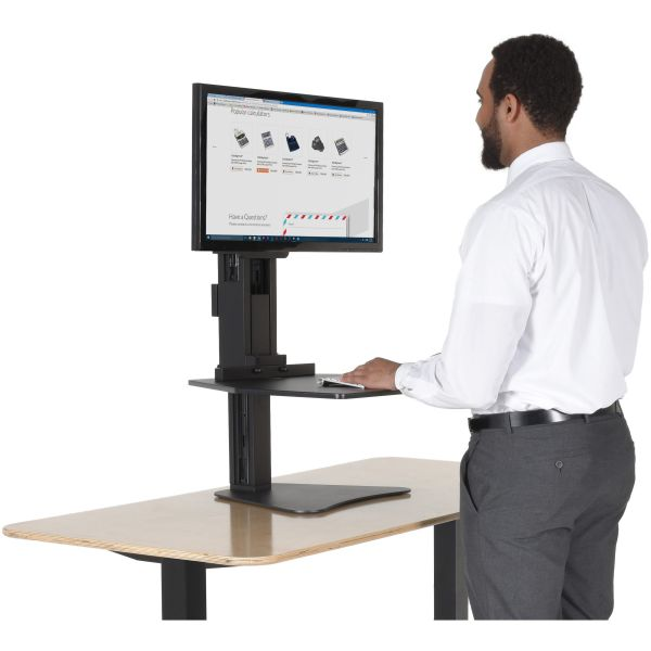 Victor High Rise Adjustable Sit-Stand Workstation, 28 x 23 x 15 1/2, Black
