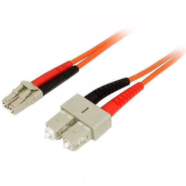 StarTech.com 2m Multimode 50/125 Duplex Fiber Patch Cable LC - SC