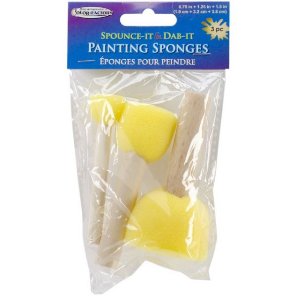Spounce It & Dab It Painting Sponges 3/Pkg