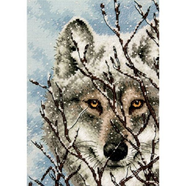 Dimensions Gold Petite Wolf Counted Cross Stitch Kit