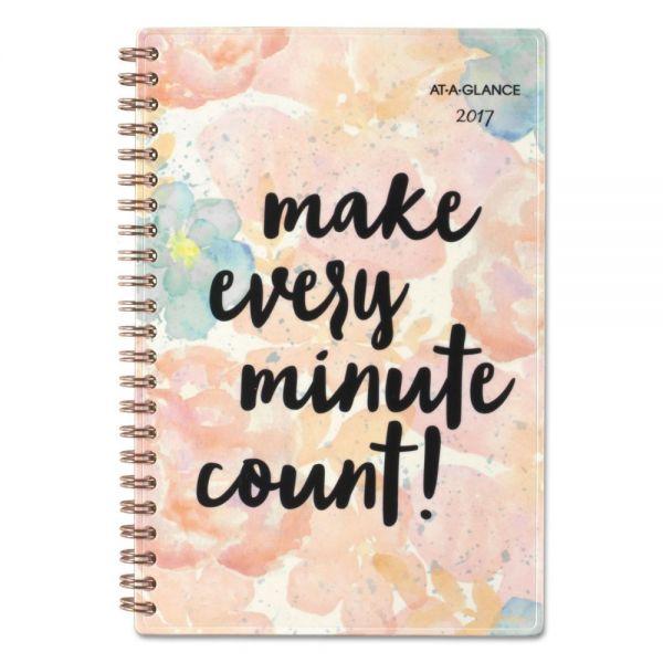 AT-A-GLANCE B-Positive Desk Weekly/Monthly Planner