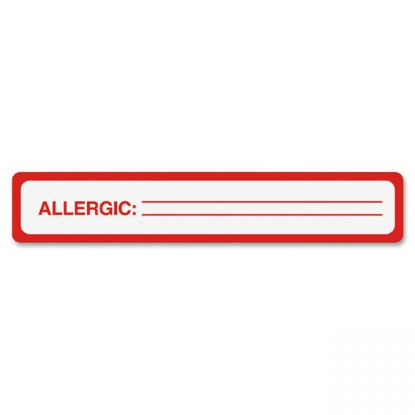 Tabbies ALLERGIC Allergy Message Labels