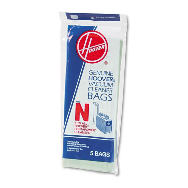 Hoover Commercial Commercial Portapower Vacuum Cleaner Bags, 5/Pack