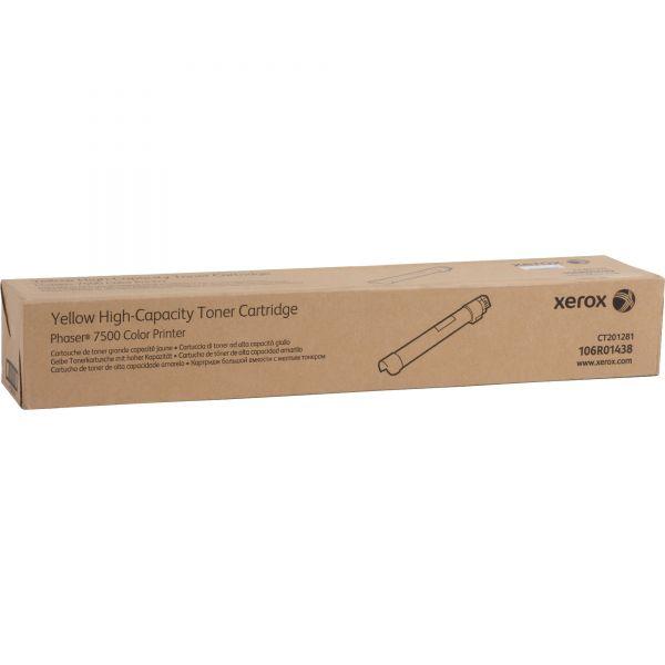 Xerox 106R01438 Yellow High Yield Toner Cartridge