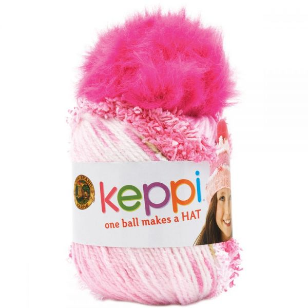 Lion Brand Keppi Yarn - Cotton Candy Pink