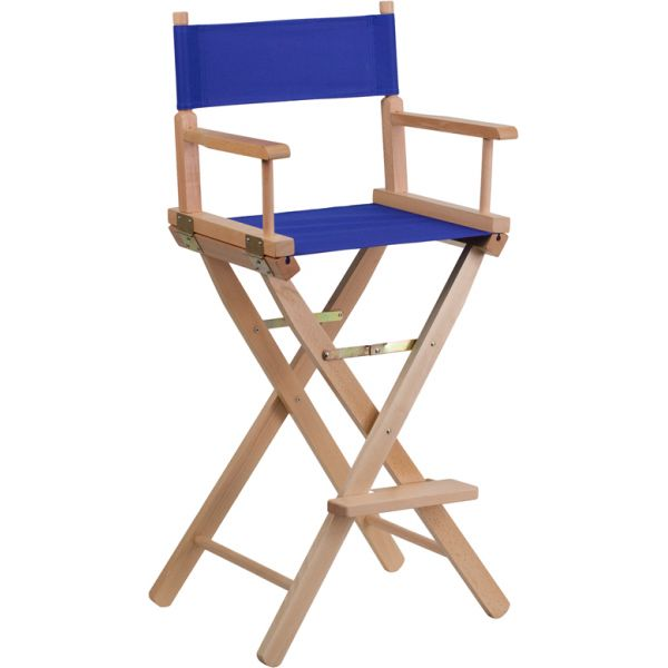 Flash Furniture Bar Height Directors Chair in Blue