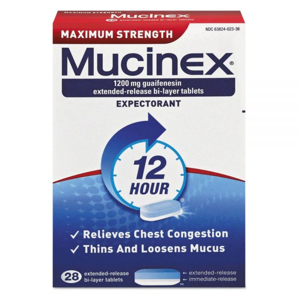 Mucinex Max Strength Expectorant Tablets
