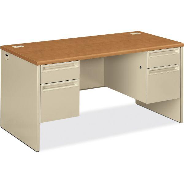 """HON 38000 Series Double Pedestal Desk   2 Box / 2 File Drawers   60""""W"""