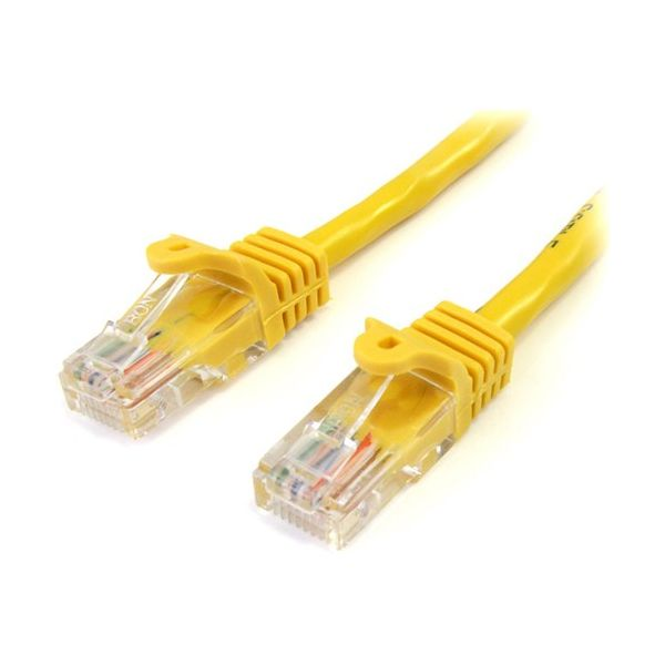 StarTech.com 25 ft Yellow Snagless Cat5e UTP Patch Cable