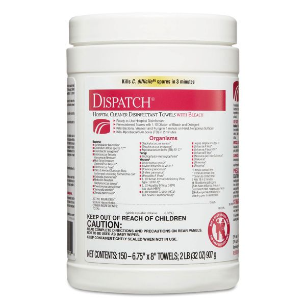 Clorox Healthcare Dispatch Cleaner Disinfectant Wipes