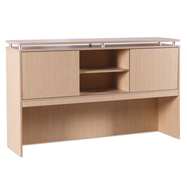 Alera Alera Sedina Series Hutch with Sliding Doors, 72w x 15d x 42 1/2h, Maple