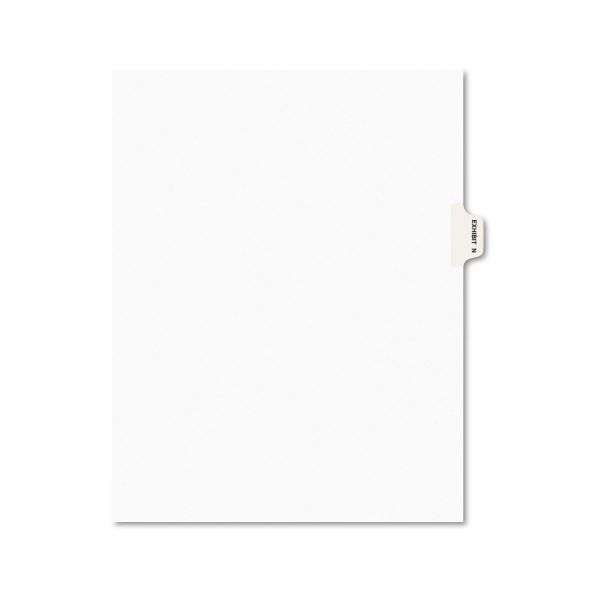 Avery Avery-Style Preprinted Legal Side Tab Divider, Exhibit N, Letter, White, 25/Pack