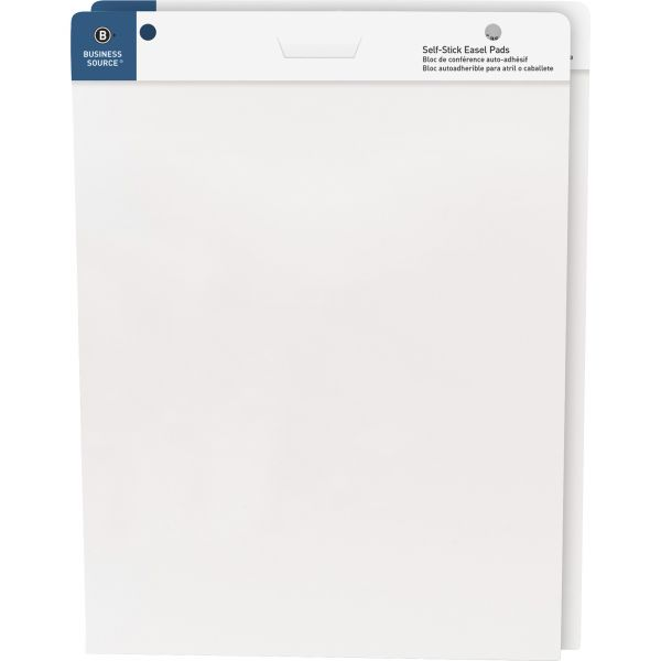 """Business Source 25""""x30"""" Self-stick Easel Pads"""