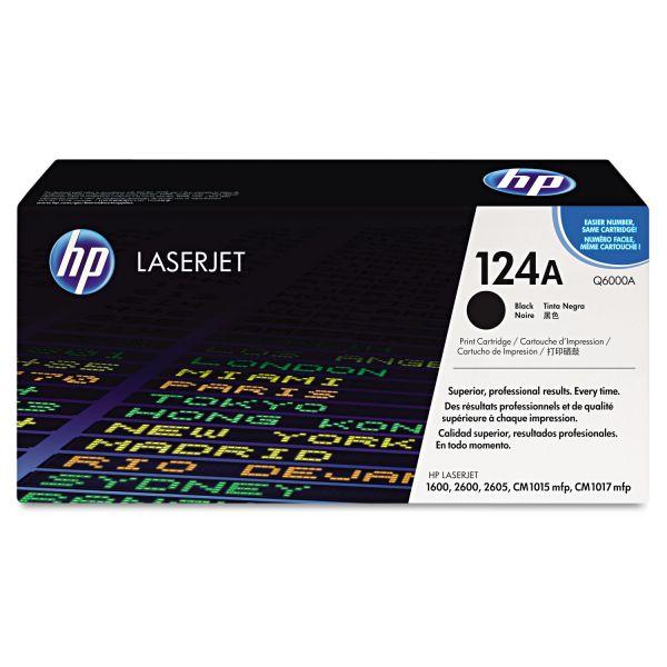 HP 124A Black Toner Cartridge (Q6000A)