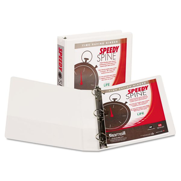 "Samsill Speedy Spine 1 1/2"" 3-Ring Binder"