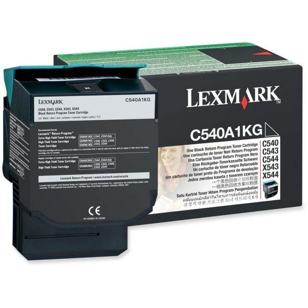 Lexmark C540A1KG Black Return Program Toner Cartridge