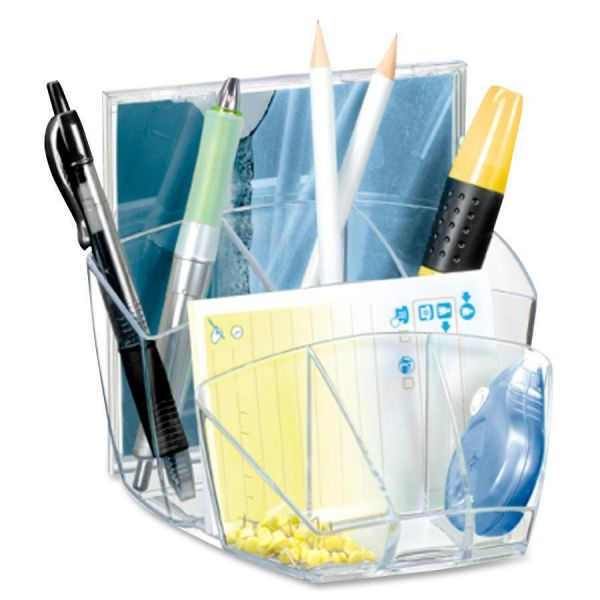 CEP Ice Transparent Desktop Organizers