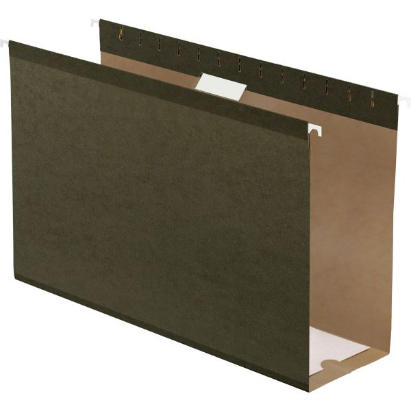 "Pendaflex Reinforced 4"" Extra Capacity Hanging Folders, Legal, Standard Green, 25/Box"