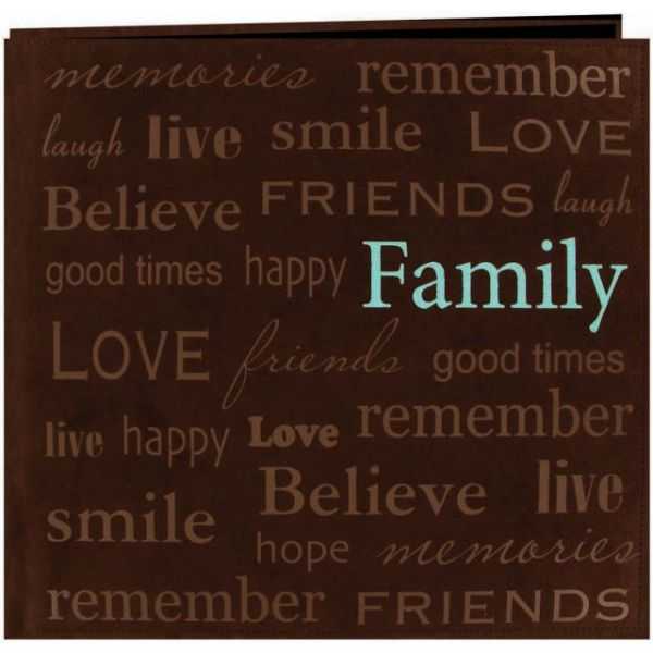 """Text Faux Suede Post Bound Scrapbook 12""""X12"""""""