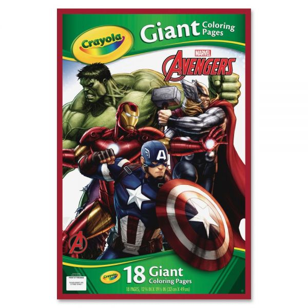 Crayola Marvel Avengers Giant Coloring Pages