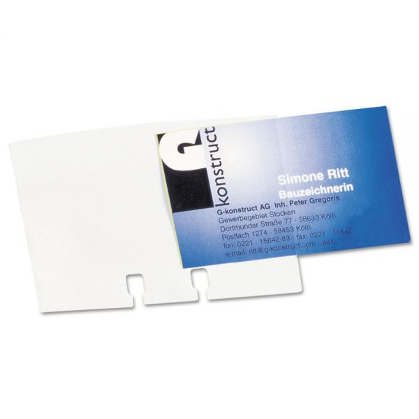 Durable Visifix Flip Refill Business Card Sleeves
